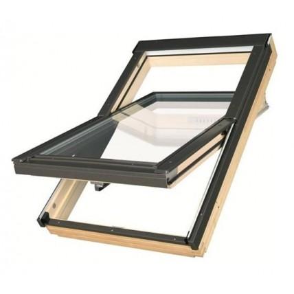 Окно мансардное Fakro FTS-V U4 (55x78см, ручка снизу), с окладом ESV