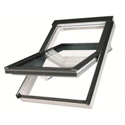 Окно мансардное Fakro PTP U3 (55x78см, ручка снизу), с окладом ESV
