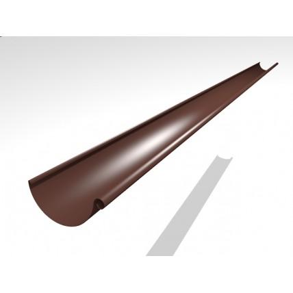 Водосток стальной Интерпрофиль 125/90 PE: желоб, 3 м