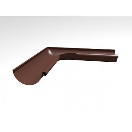 Водосток стальной Интерпрофиль 125/90 PE: угол желоба 90 градусов, внутренний