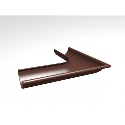 Водосток стальной Интерпрофиль 125/90 PE: угол желоба 90 градусов, внешний