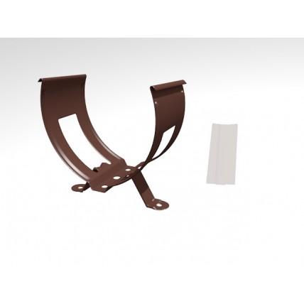 Водосток стальной Интерпрофиль 125/90 PE: хомут для трубы (с замком)