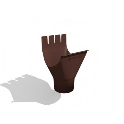 Водосток стальной Интерпрофиль 125/90 PE: воронка желоба (125/90 мм)