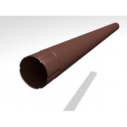 Водосток стальной Интерпрофиль 125/90 PE: труба водосточная (3 м / 90 мм)
