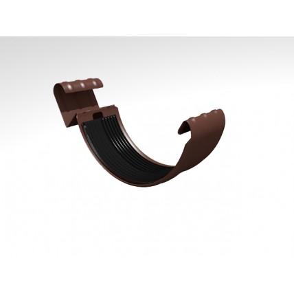 Водосток стальной Интерпрофиль 125/90 PE: соединитель желоба