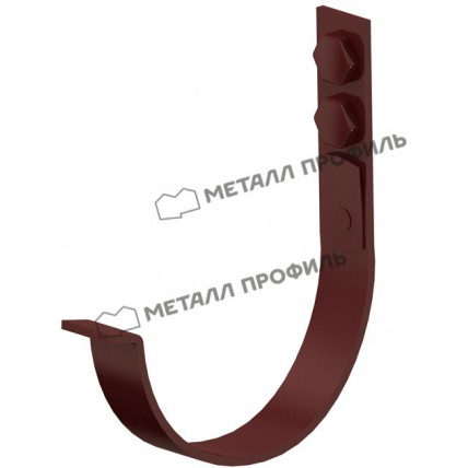 Водосток стальной Металл Профиль Престиж 125/100: держатель желоба усиленный 132 мм