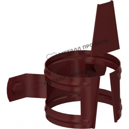 Водосток стальной Металл Профиль Престиж 125/100: держатель трубы на дерево D100 мм
