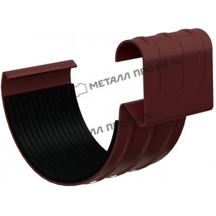 Водосток стальной Металл Профиль Престиж 125/100: соединитель желоба