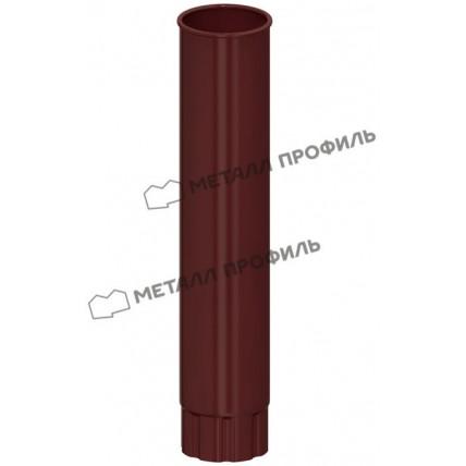 Водосток стальной Металл Профиль Престиж 125/100: труба водосточная (1 м)