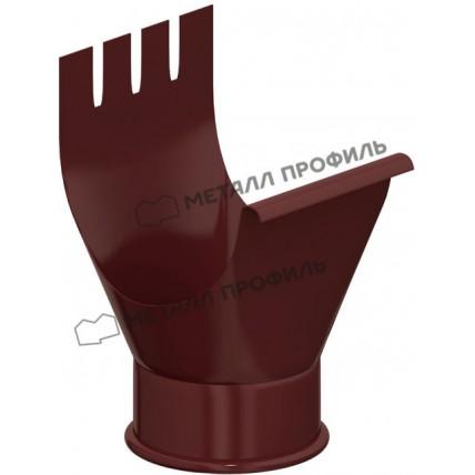 Водосток стальной Металл Профиль Престиж 125/100: воронка выпускная (желоба)