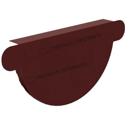 Водосток стальной Металл Профиль Престиж 125/100: заглушка желоба