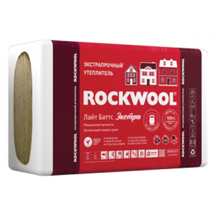 Базальтовая теплоизоляция (вата) - Rockwool (Роквул) Лайт Баттс Экстра 50