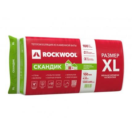 Базальтовая теплоизоляция (вата) - Rockwool (Роквул) Лайт Баттс Скандик 100XL