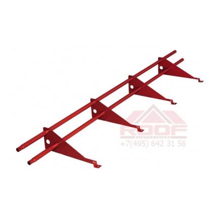 Снегозадержатель Roofsystems (Руфсистемс) - трубчатый Econom / TEKTA для металлочерепицы и битумной кровли (универсальный)