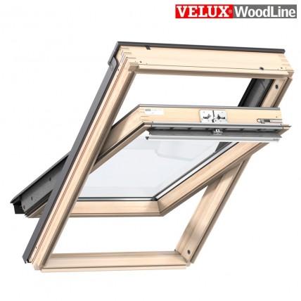 Окно мансардное Velux Дизайн Woodline (55x78см, ручка сверху)