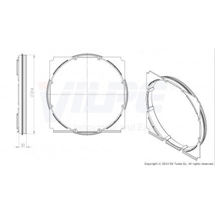 Фланец вентиляционной решетки Vilpe (Вилпе) 315 мм (375x375)