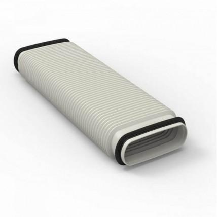 Воздуховод Vilpe Renson Easyflex гибкий (овал) - с двумя соединителями (0.42 м)