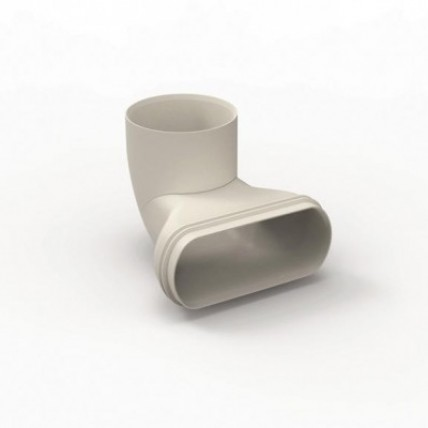 Воздуховод Vilpe Renson Easyflex гибкий (овал) - угловой адаптер на D80